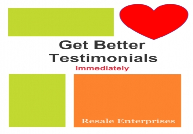 Give You The Easy Way To Get Better Testimonials For Your Products