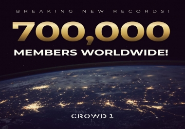 create an account for you on Crowd1 and pay for your Bronze Starter Kit. be part of the HOTTEST sector right now with Crowd1 which is exploding globally with over 750,000 new members