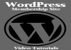 Give You Wordpress Membership Site