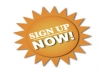 Advertise Your Site & Gives You 500+ Real Human Sign ups in your site.