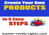 Give You Create Product In 5 Easy Steps!